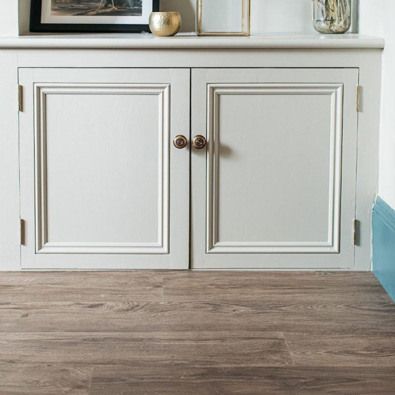 aged oak wood floor