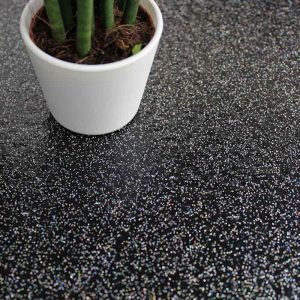 black sparkle lvt floor tiles for kitchens