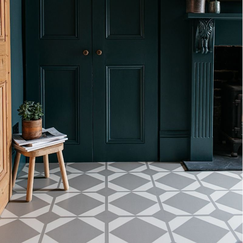 patterned grey dovetail flax flooring