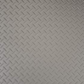 silver treadplate floor tile
