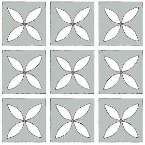 misty grey petal design floor tile