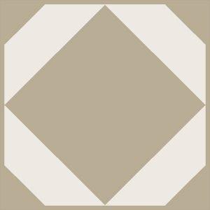 ochre neutral geometric floor tiles