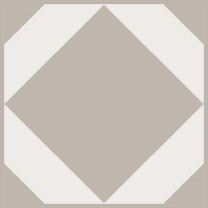 light neutral geometric floor tiles