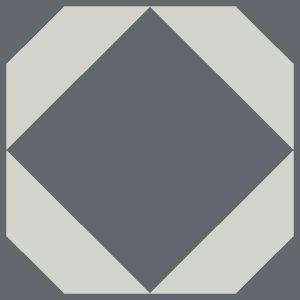grey blue geometric floor tiles
