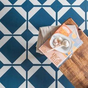 lvt navy floor tiles oxford blue pattern