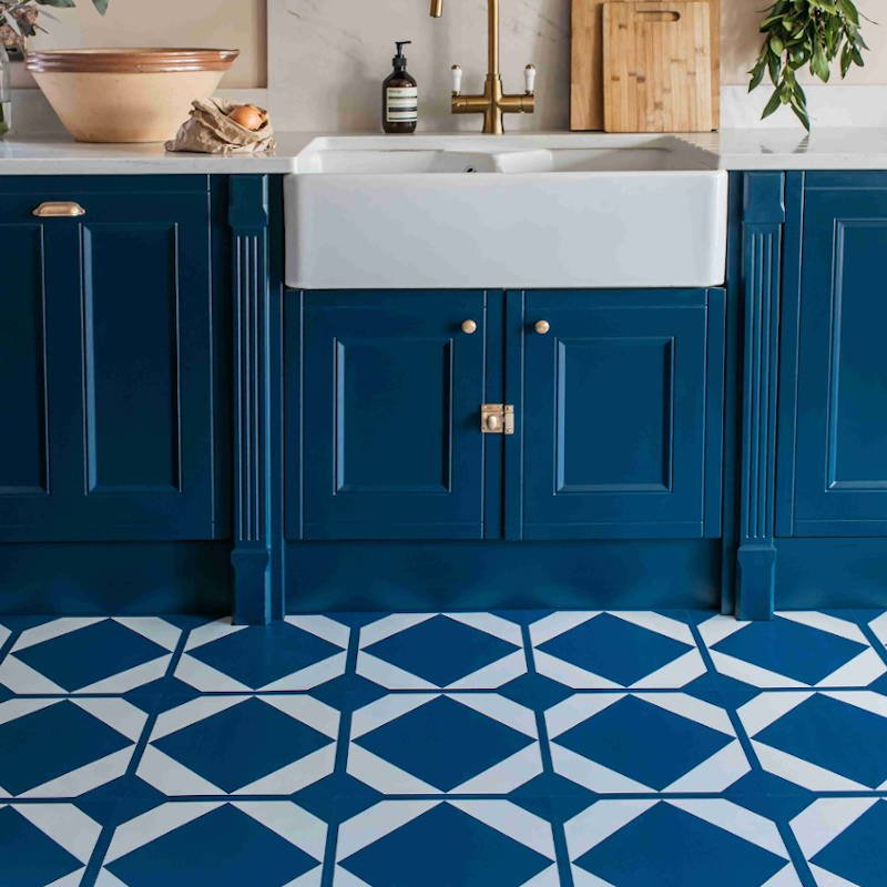 oxford blue pattern lvt