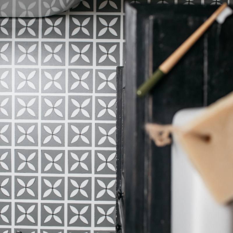 storm grey bathroom floor tiles