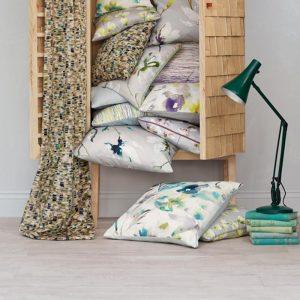 white oak floor wood lvt with rattan wardrobe