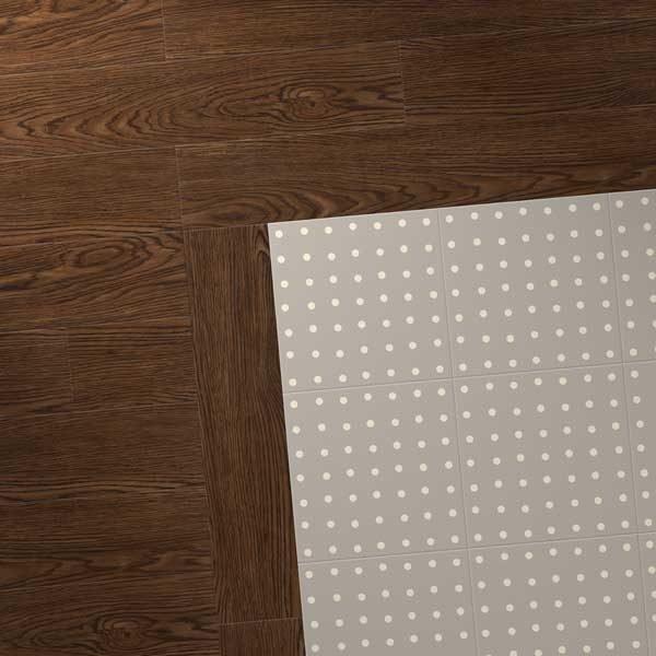 Antique oak floor with spot design