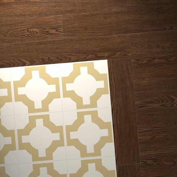 Vinyl Oak with gold design combo
