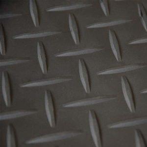 Black tread plate vinyl flooring
