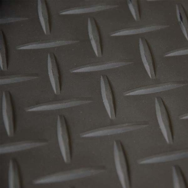 Black tread plate vinyl flooring