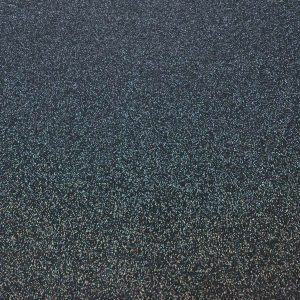 black glittery flooring