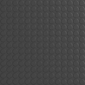 black rubber dimple floor tiles