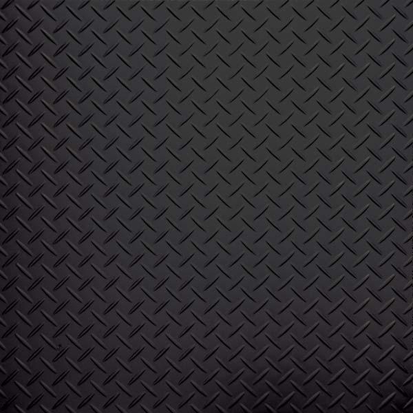 Black tread plate vinyl tile