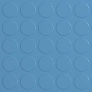 blue rubber flooring with dimple effect