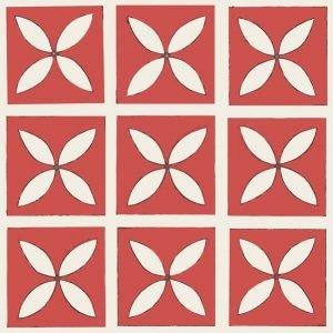 red decorative flooring tile