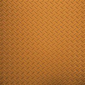 bright orange treadplate tile