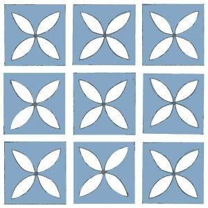 light blue decorative floor tile