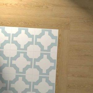 vinyl oak planks with parquet eggshell