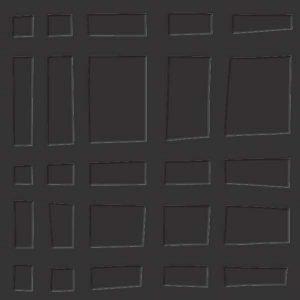 black grid flooring tile