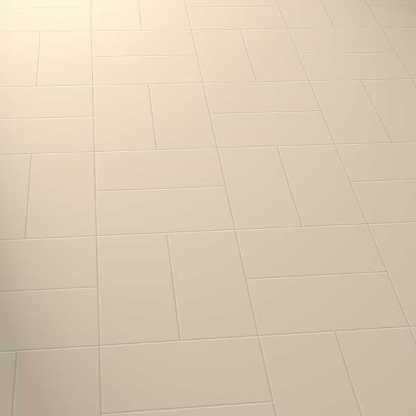 cream flooring in a basket pattern