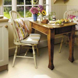 cream flooring in a kitchen