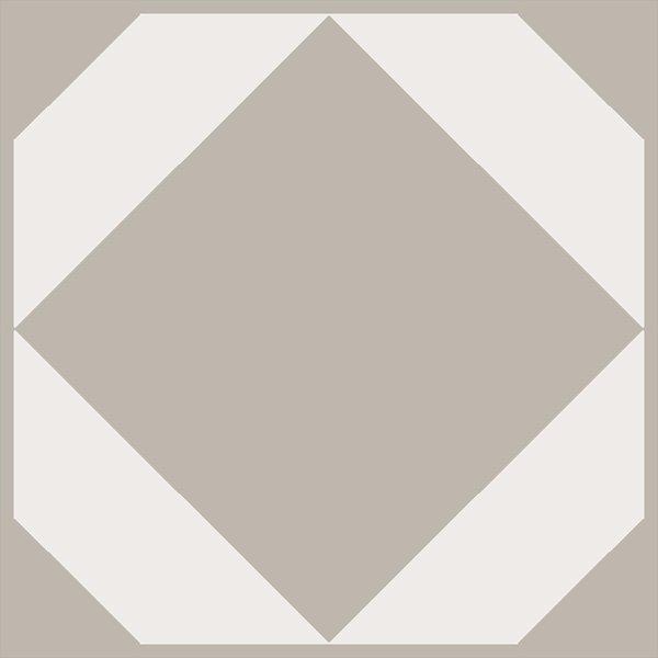 Light grey decorative floor tile