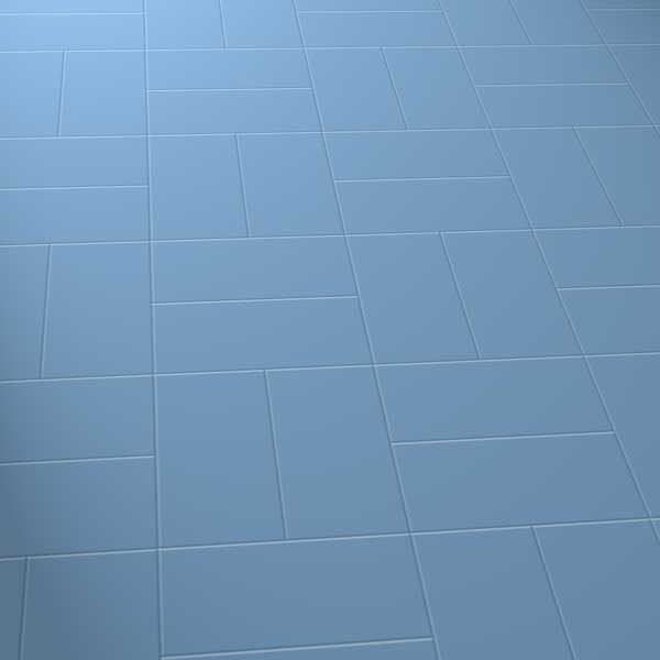 Dark blue floor in basket laying pattern