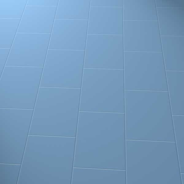 Dark blue floor in brick laying pattern