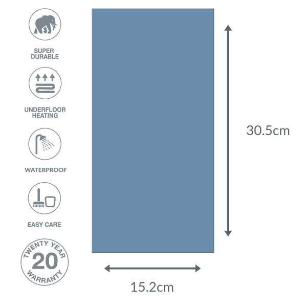 Blue flooring dimensions