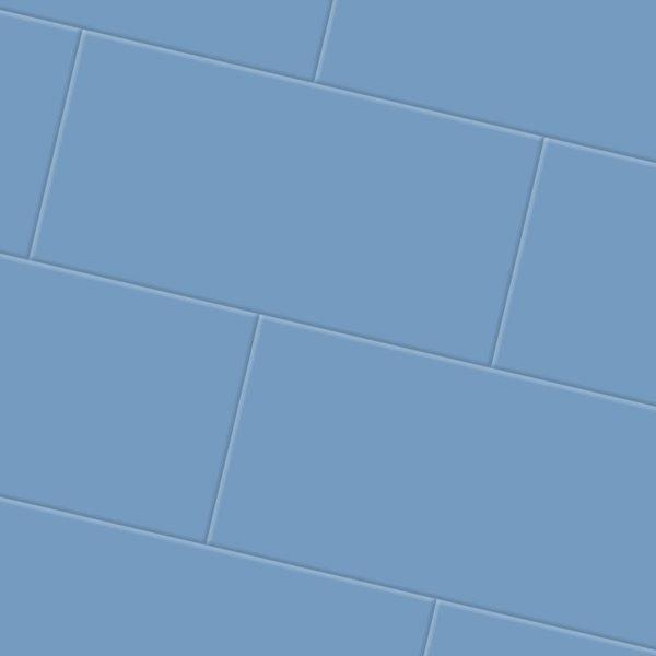 Blue vinyl flooring tiles