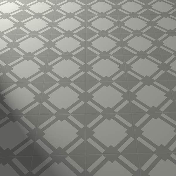 grey checkered floor tiles