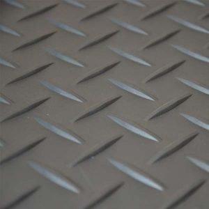 Grey tread plate tile