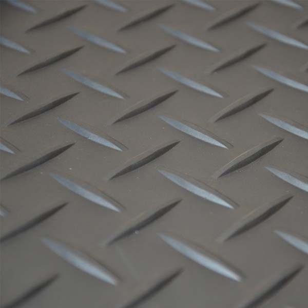 Grey tread plate tile