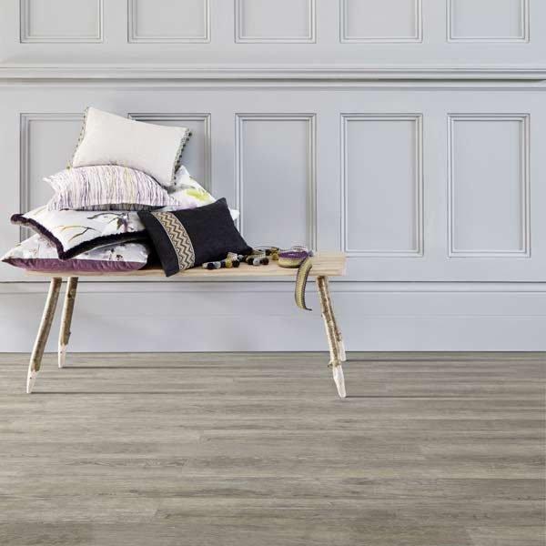 grey vinyl wood hallway floor
