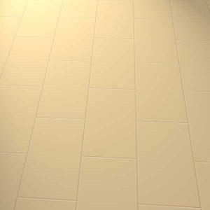 Plain beige vinyl floor in a brick laying pattern