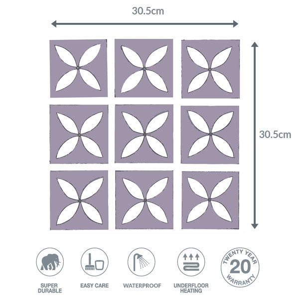Heather floor dimensions
