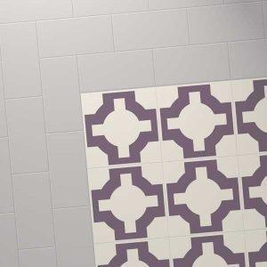 grey colour tile with purple celtic design