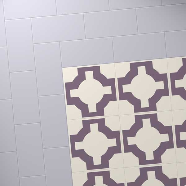mauve floor border with Parquet Heather
