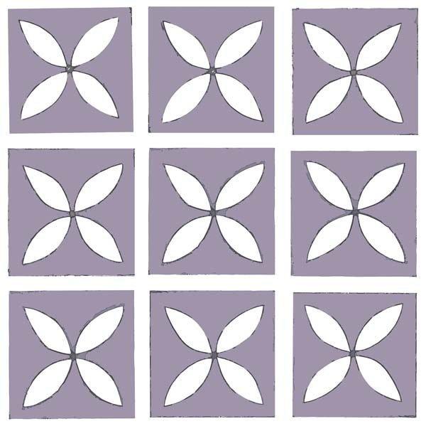 purple decorative flooring tile