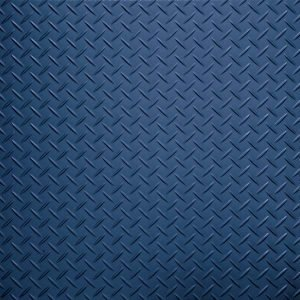 Dark blue tread plate vinyl tile