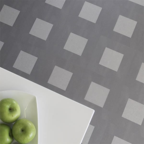 Dark grey patterned flooring
