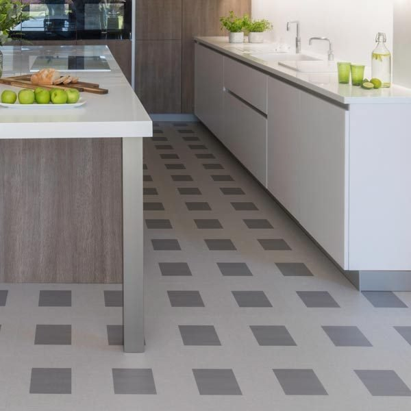 Kitchen with Jurassic Square flooring