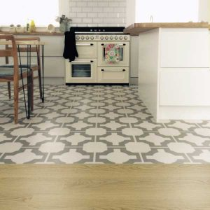 combo of oak and design in a kitchen