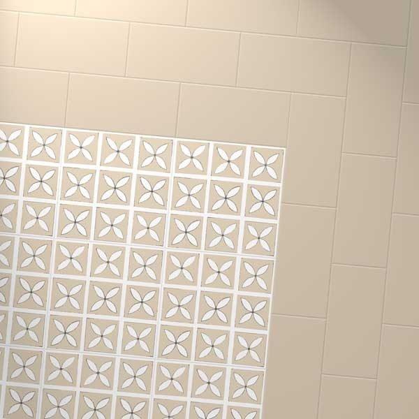 cream floor with petal designer floor
