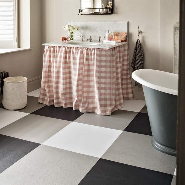vinyl checkerboard flooring