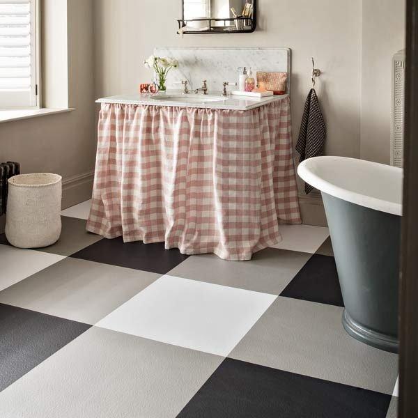 vinyl checkerboard flooring