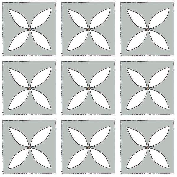 Mist grey lvt single floor tile