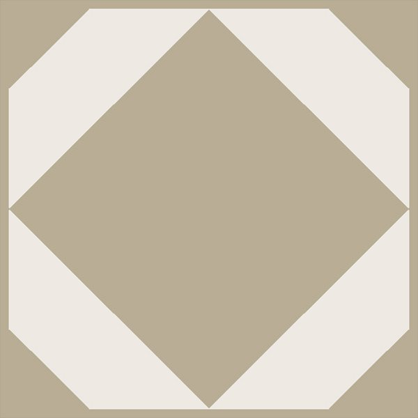 decorative single floor tile in ochre